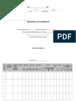 Registrul actionarilor