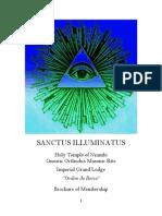 Holy Temple of Nzambi, Gnostic Masonic Rite, Sanctus Illuminatus, Brochure of Membership 2014