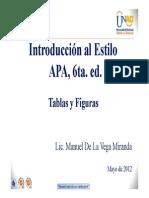 Tablas y Figuras - APA - 6ta Ed