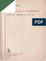 MOUNIN, GEORGES - Historia de la lingüística