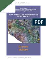 Plan de Desarrollo Regional Concertado 2005 2012 Tacna