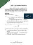 Class B Amplifier Dissipation Calculations