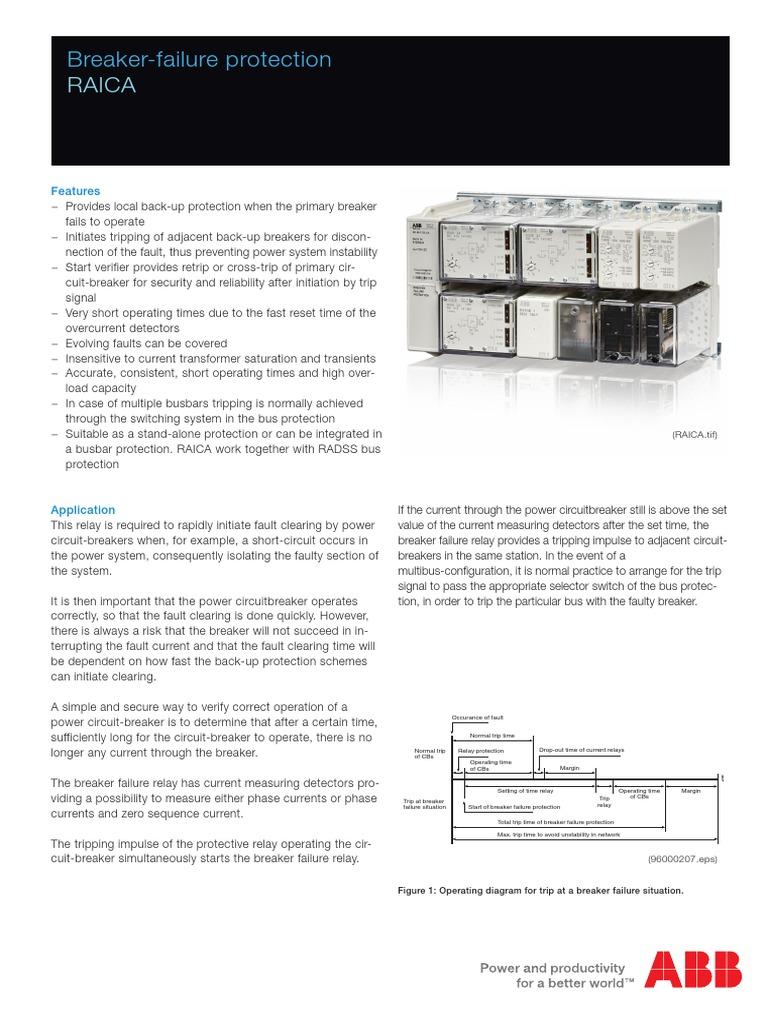 1mrk505005 Ben A En Breaker Failure Protection Raica Relay Switch Circuit Diagram Of Phase
