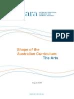 acara shape of the australian curriculum the arts