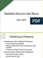 Pertemuan 1 Statistika Ekonomi Dan Bisnis