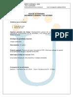 Actividades Trabajo de Reconocimiento 2014-1