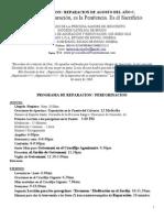 Reparacion Agosto 2013 Programa y Mensajes