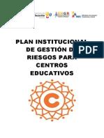 Plan Institucional de Gestión de Riesgos para Centros Educativos - copia