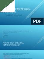LITERATURA PREHISPÁNICA Y COLONIAL