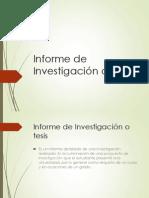 informe invetigacion