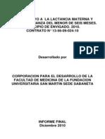 Informe Final Red de Apoyo Envigado 2010