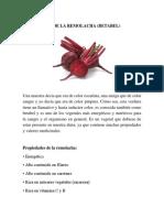 Propiedades de La Remolacha (Betabel)