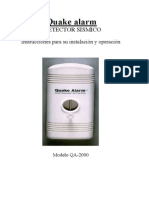 Manual de Usuario Quake Alarm