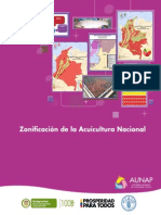 Zonificación de la Acuicultura nacional-Colombia 2013