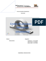 Costos Manufactura de Chumaceraa