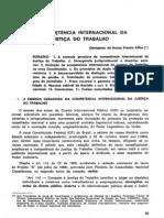 4. Da Competência Internacional da Justiça do Trabalho (1)