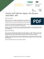 Tafa Arc Spray Wire 1.9.1.2-60T - Arc Spray 13% Chrome Steel
