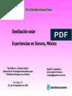 Experiencia en Sonora Destiladoresl