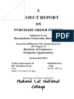 Project Repor Purchase Order System