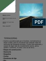 Definiciones y especificaciones para la construcción de carreteras diapositivas