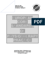 Bsc Pt - European Standard of Physiotherapy Practice