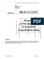 EA-4-16 G-2003. EA Guidelines on the Expression of Uncertainty in Quantitative Testing