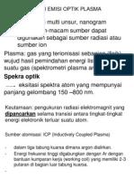 Plasma Optical Emission