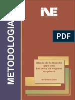 diseño de la muestra para una encuesta de hogares ampliada - diciembre 2005 metodologias - INE