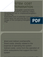 System Cost Determination