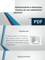 Mantenimiento a elementos primarios de una subestación
