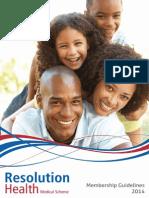 Resolution Health Medical Scheme Membership Guidelines