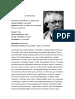 Jean Piaget Biodata