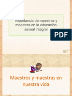 CONFERENCIA v Importancia de Maestros y Maestras