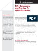 Texas Instruments Video Compression and Data Flow for Video Surveillance