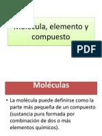Molécula, elemento y compuesto