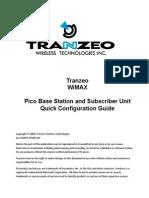 WiMAX pBS and SU Quick Configuration Guide