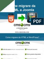 Come Migrate Da HTML a Joomla