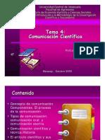 Comunicación científica (Clase 8 Tema 4 2009)