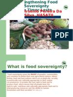 Strengtheng Food Sovereignty in Timor-Leste by Arsenio Pereira da Silva of HASATIL