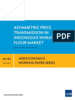 Asymmetric Price Transmission in Indonesia's Wheat Flour Market