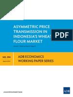 Asymmetric Price Transmission in Indonesia's Wheat Flour Market