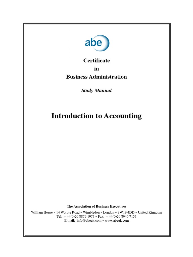 ABE level 4 - Introduction to Accounting | Debits And Credits | Bookkeeping