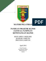 Dody Firmanda 2014 - RSUD Abdul Moeloek Bandar Lampung Panduan Praktik Klinis, Clinical Pathways dan Kewenangan Klinis