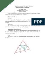 A Proof of Smarandache-Pătraşcu's Theorem using Barycentric Coordinates