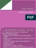 Duty Report 20 Dec
