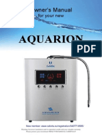 Aquarion Manual - Filter and Ionizer Water Device