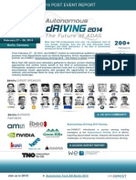 Autonomous Driving 2014 The Future of ADAS Post Event Report