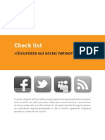 Check list «Sicurezza sui social network»