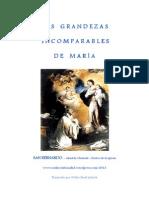 LAS GRANDEZAS INCOMPARABLES DE MARÍA