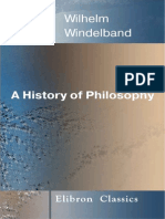 A History of Philosophy - Wilhelm Windelban